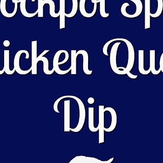 Crockpot Spicy Chicken Queso Dip.