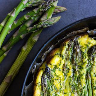 Baked Asparagus Ricotta Frittata