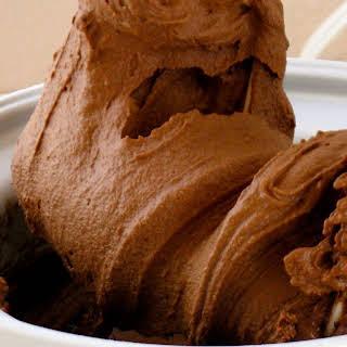 Dense, Dark Chocolate Ice Cream.