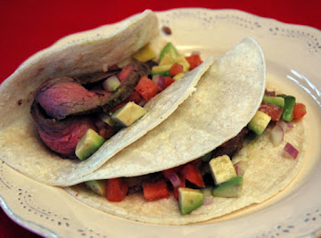 Steak Tacos With Avocado Salsa Recipe