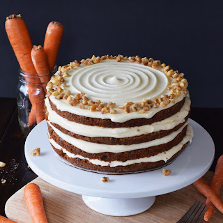 The Best Carrot Cake w/ Maple Cream Cheese Frosting