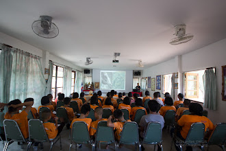 """Photo: Time to learn about mangrove forest ecosystems at the """"The Pranburi Forest Park"""", first some theoretical discussions and presentations…  http://www.tourismthailand.org/Pranburi-Forest-Park http://park.dnp.go.th/visitor/nationparkshow.php?PTA_CODE=4011"""