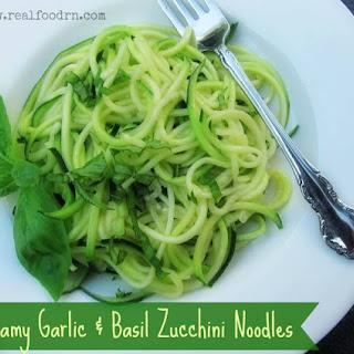 Creamy Garlic & Basil Zucchini Noodles