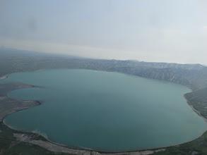 Photo: Карымское озеро с вертолета. погода туманная. снималось не через стекло. откуда стекло на крыле?