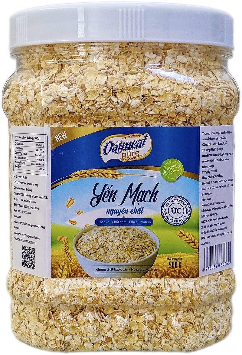 Yến mạch Úc nguyên chất Oatmeal 500 g Yến mạch tươi là gì ?