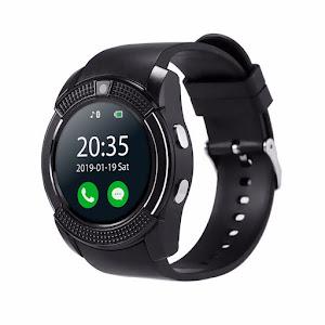 Ceas Smartwatch V8 cu functie apelare, SMS, camera, Bluetooth, Android, Negru