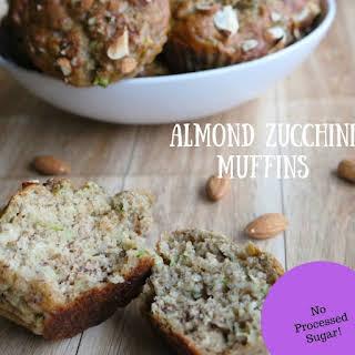 Healthy Almond Zucchini Muffins.