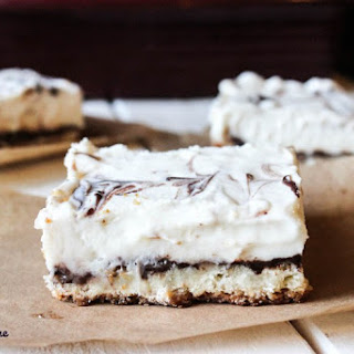 Chocolate and Vanilla Sugar Cookie Cheesecake Bars