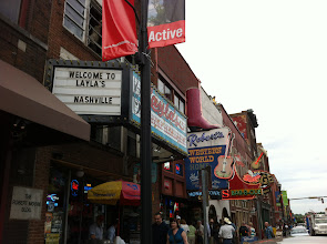 Photo: Broadway Street with many country bars and stars in the making!  Nashville, TN