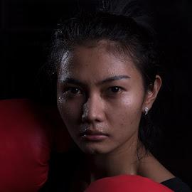 by Eko Probo D Warpani - Sports & Fitness Boxing ( girls, strobist, boxing, beauty, cute )