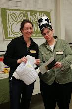 Photo: VT Deputy Secretary of Agriculture Diane Bothfeld (right) and Ag Agency Staff Member adn event organizer Abbey Willard