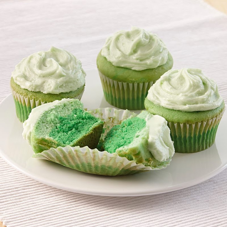 Green Ombre Cupcakes Recipe