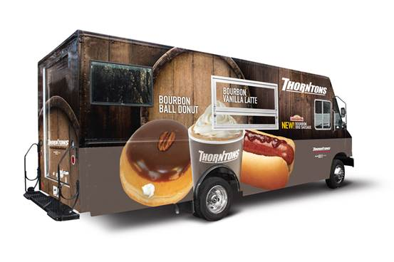 Find the Thorntons Bourbon Kitchen Food Truck around downtown Louisville leading up to the Kentucky Derby