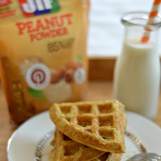 Peanut Butter Protein Waffles.