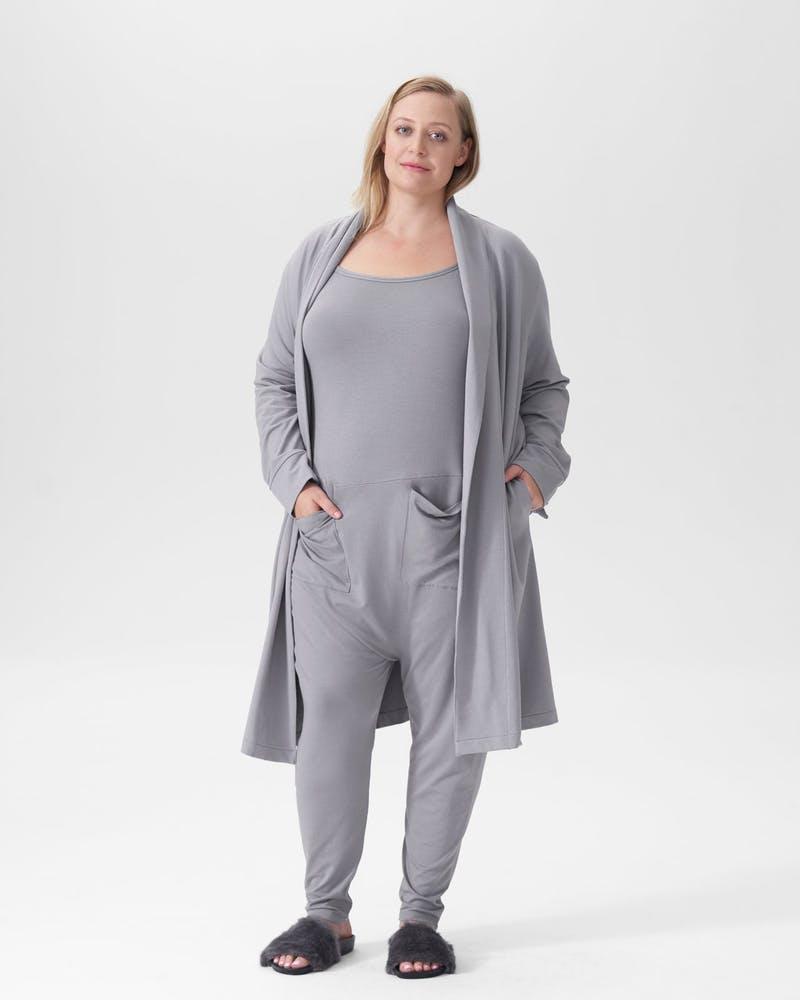 Universal Standard Grey Long john pajamas