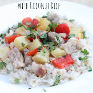 Chicken Pineapple Stir-fry with Coconut Rice.