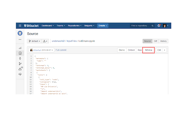 BitBucket NBviewer Button