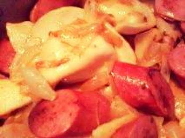 German Pierogies With Kielbasa, Bacon & Apples Recipe