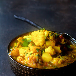 Cauliflower Red Lentil and Potato Curry.