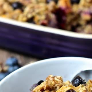 Blueberry Apple & Walnut Baked Oatmeal