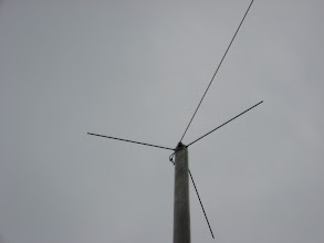 Photo: Top Hat on 40 Mtr Vertical - WB9OTX