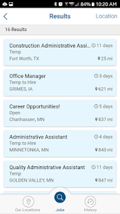 Pro Staff Job Search- screenshot thumbnail