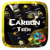 Carbon Tech Go Launcher Theme