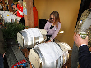 Photo: Rachel pours a sample of Port Brewing's Mongo IPA.