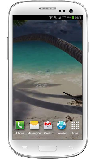 Sandy Beach Live Wallpaper