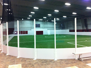 Photo: One of two indoor soccer fields at XL Soccer World Saco