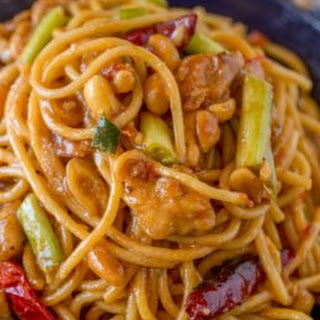 Kung Pao Chicken Spaghetti (CPK Copycat).