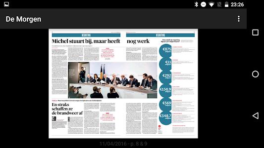 De Morgen digitale krant screenshot 1