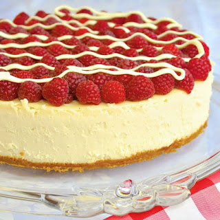 White Chocolate Cheesecake with Raspberries Recipe