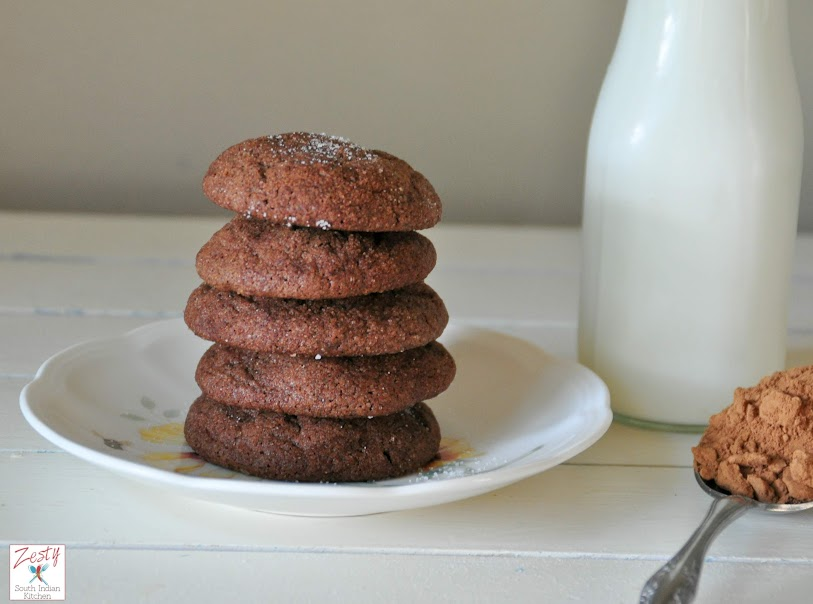 Chocolate Snickerdoodles #choctoberfest