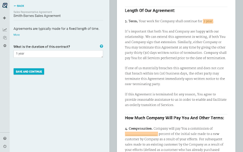 Quickly Legal - Contracts screenshot 5