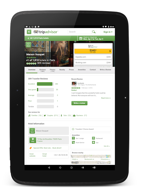 #11. TripAdvisor Hotels Restaurants (Android)