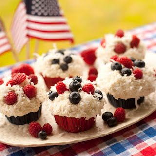 4th of July Organic Whole Wheat Cupcakes.