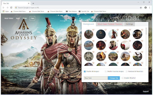 Assassin S Creed Odyssey Hd Wallpaper New Tab Chrome Web Store