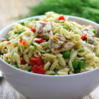 Lemon-Dill Chicken and Orzo Pasta Salad Recipe