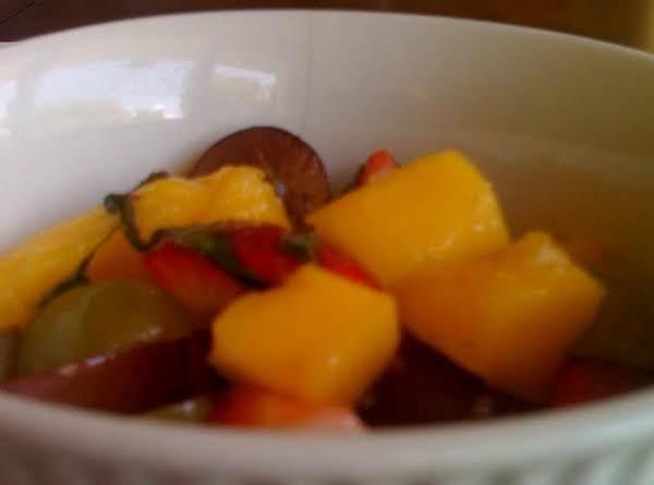 Fruit Salad With Lemon Basil Syrup Recipe