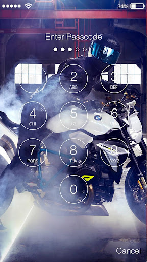 Motorcycle Lock Screen screenshot 1