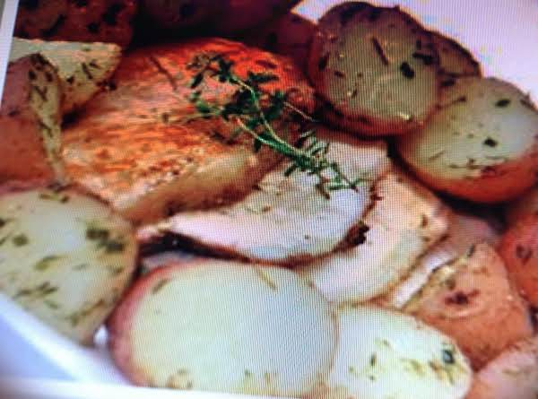 Rosemary Pork Loin With Roasted Potatoes Recipe