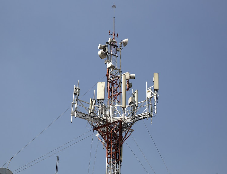 A telecoms tower. Picture: BLOOMBERG/SUSANA GONZALEZ