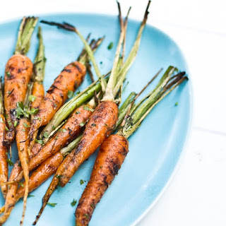 Grilled Carrots with Lime and Cilantro.