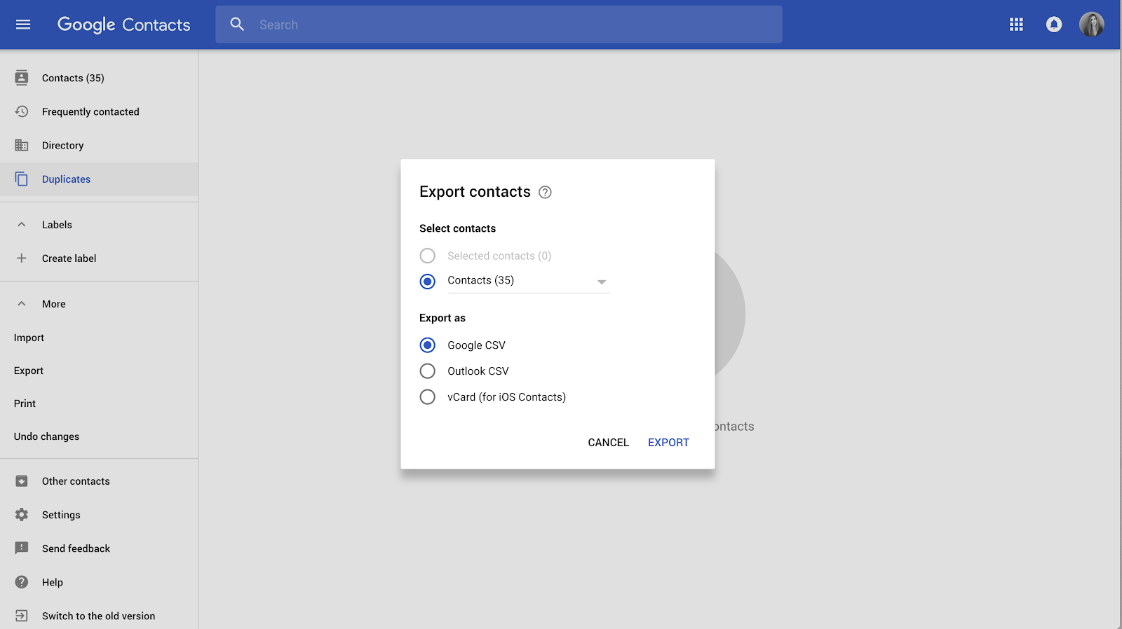 How to export Google contacts to a csv file? - Gmelius Help Center
