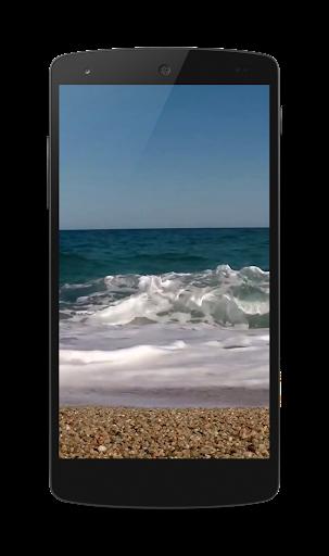 海のライブビデオ壁紙