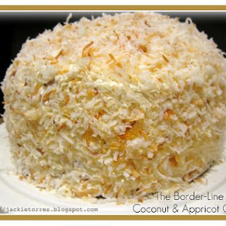 Border Line Coconut and Apricot Cake
