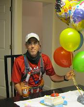 Photo: Birthday cake and juice before the run.