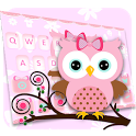 Pink Owl Keyboard Theme icon
