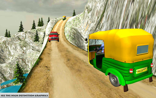 Mountain Auto Tuk Tuk Rickshaw : New Games 2020 screenshots 3